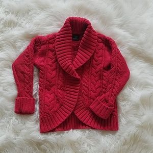 Girl's Baby GAP Red Cable Knit Sweater sz 3T
